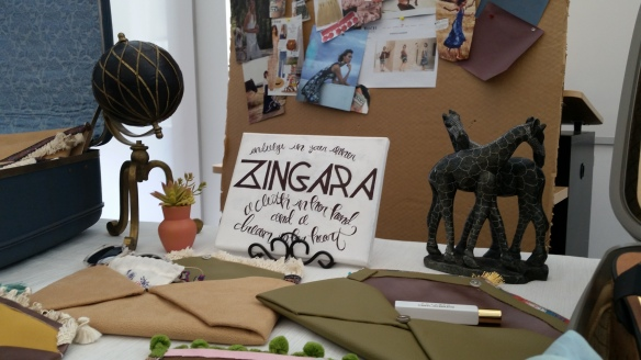 Zingara in Italian means wandering gypsy. This was the team_s name at Philadelphia University. They made clutches as part of the Global Fashion Insight Project.