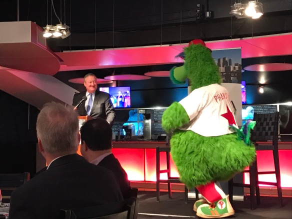 Kenney and Phanatic